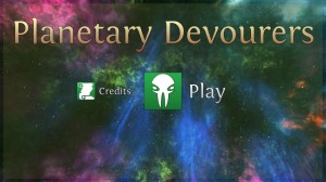 Planetary Devourers - Title Screen
